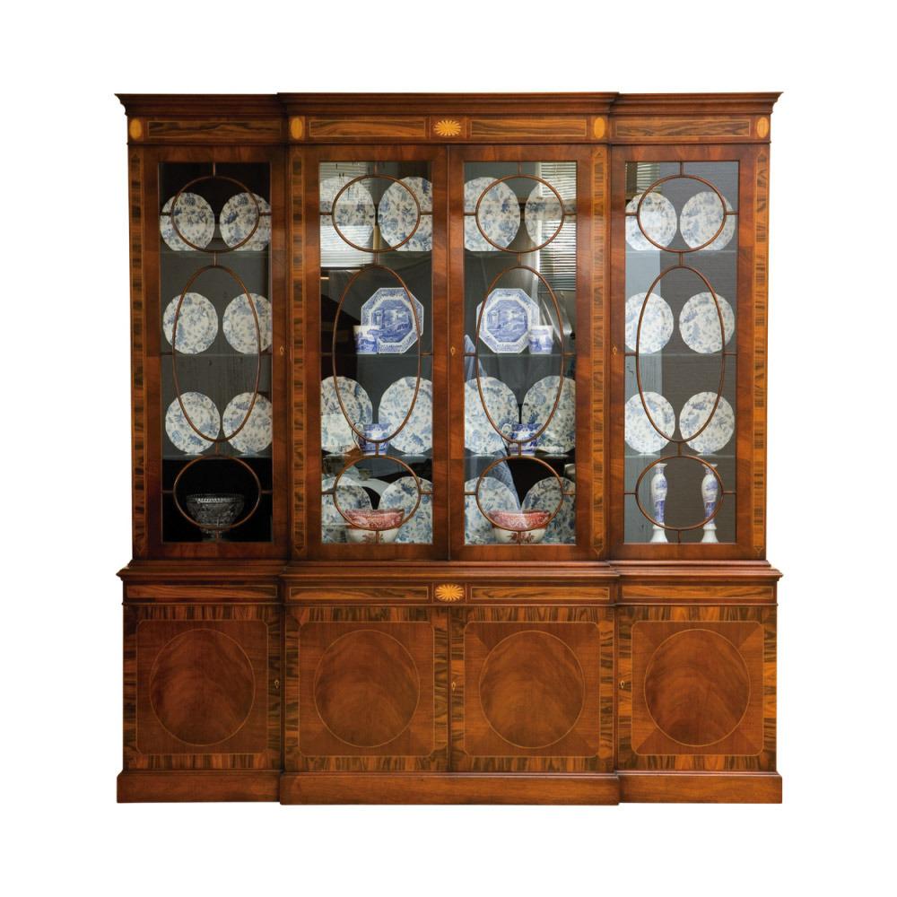 Mahogany Breakfront Bookcase