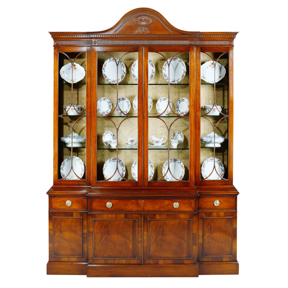 Mahogany Breakfront Display Cabinet