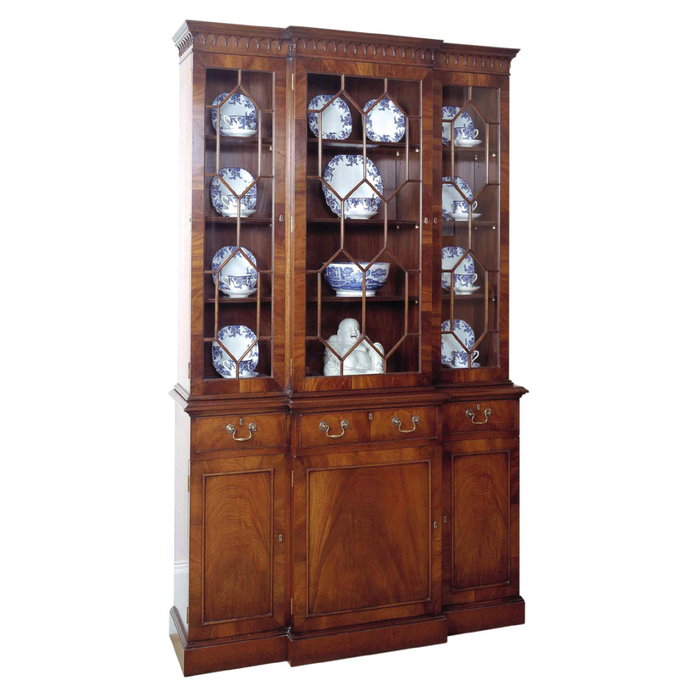 Mahogany Breakfront Cabinet