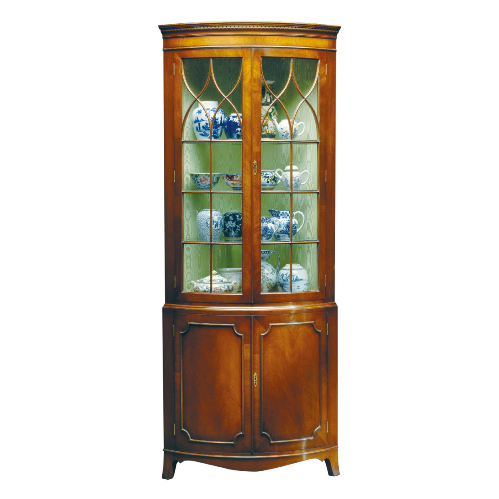 Mahogany Bow-fronted Corner Cabinet