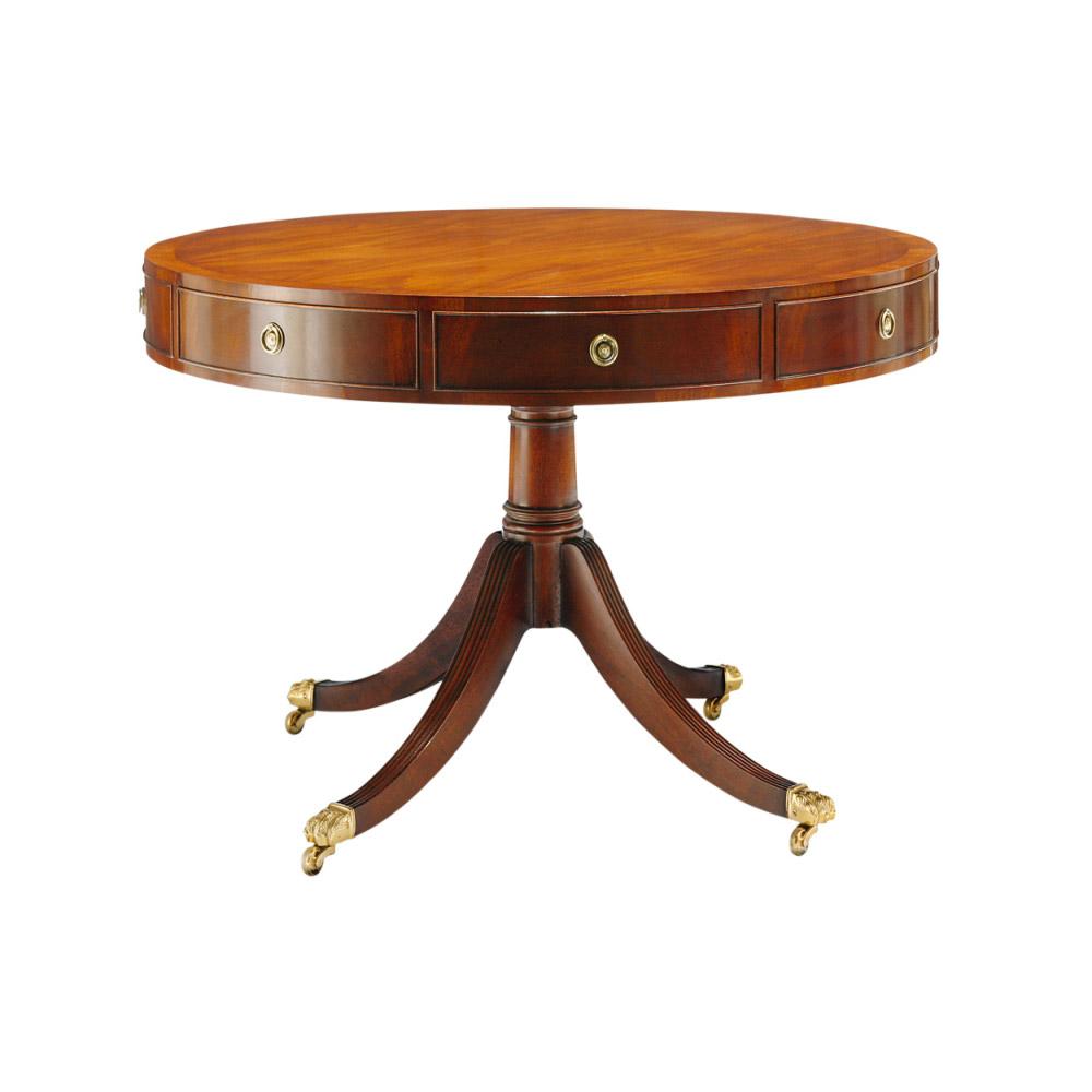 Mahogany Drum Table