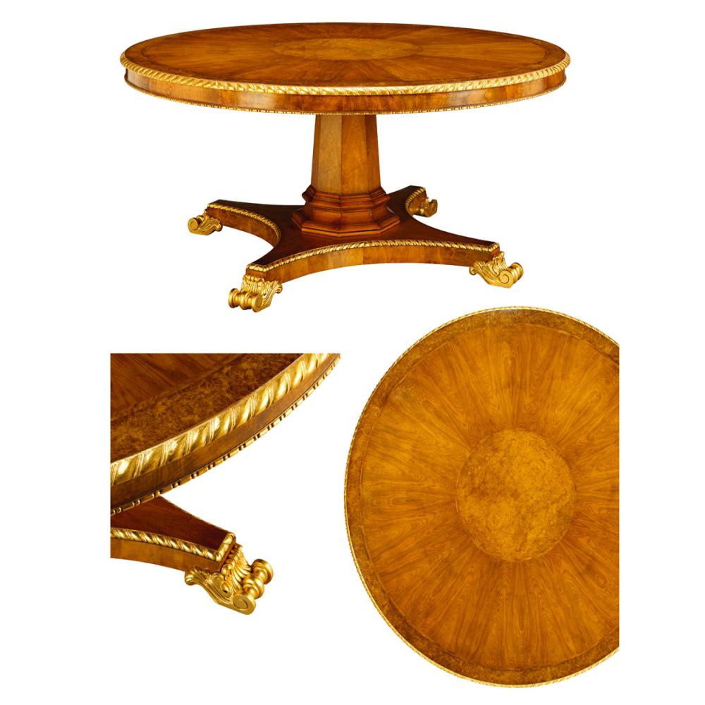 Walnut & Gilt Centre Table