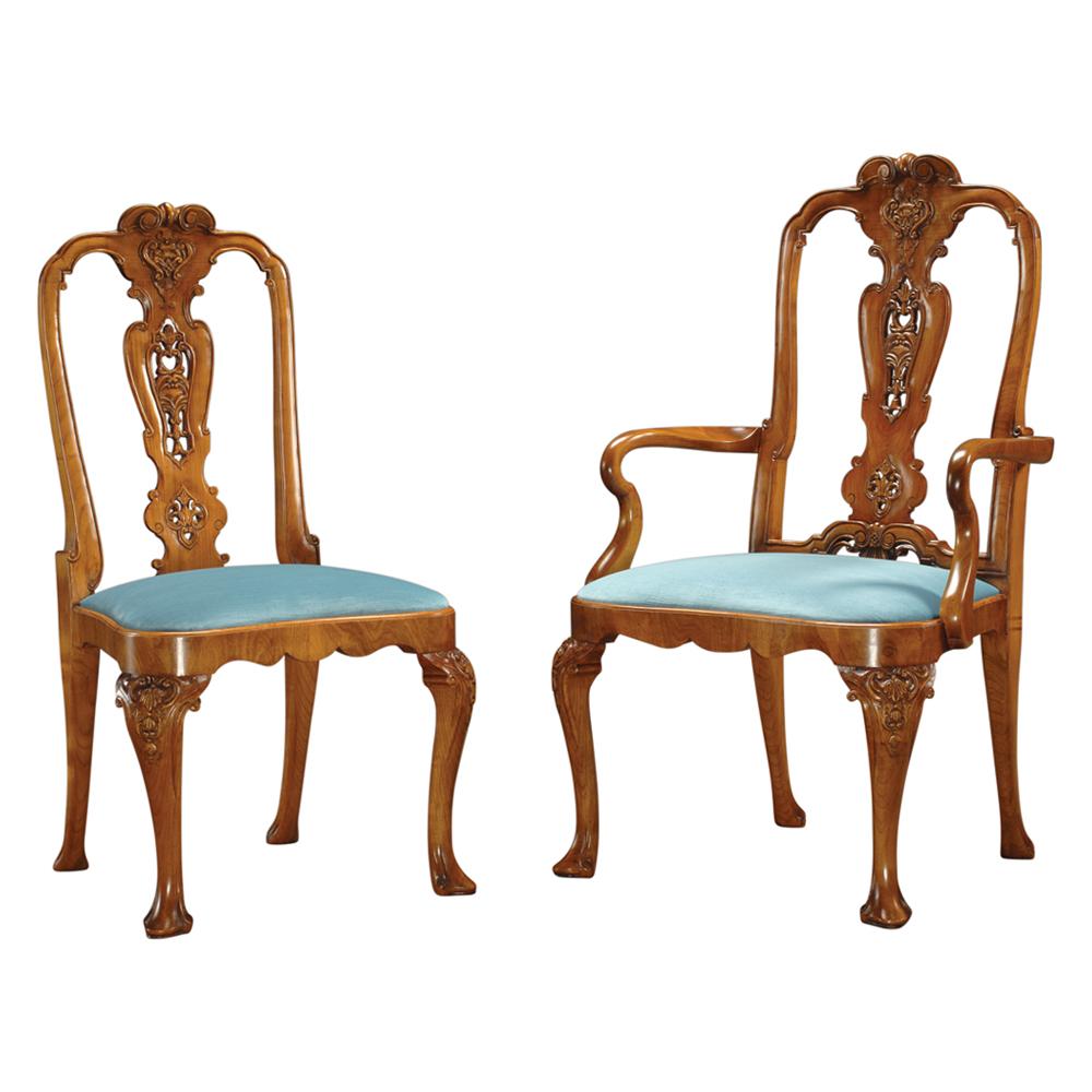 Walnut Daniel Marot Style Chair