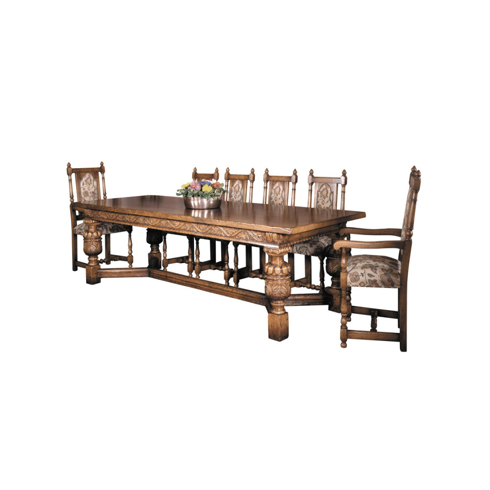 English Oak Elizabethan Refectory Table