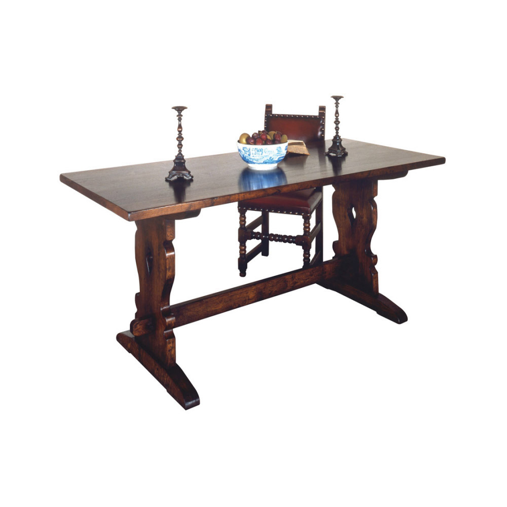 English Oak Trestle Table