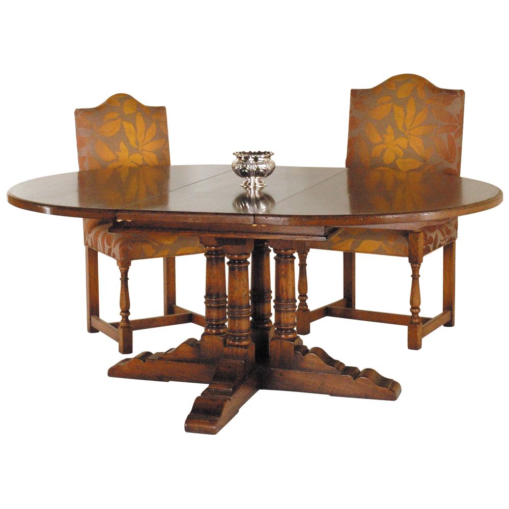English Oak Extending Dining Table with Loose Leaves