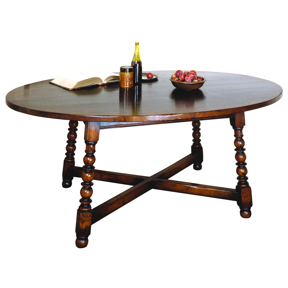 English Oak Oval Dining Table