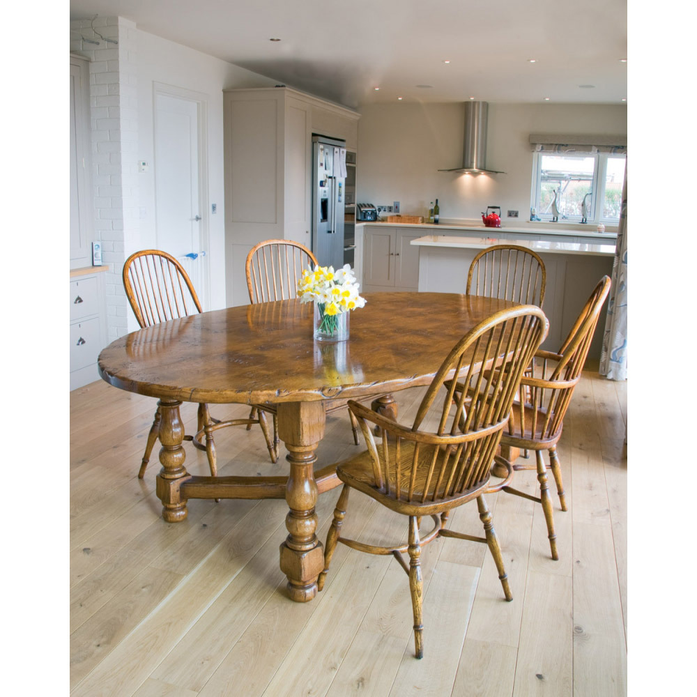 Oak Oval Table and Chairs