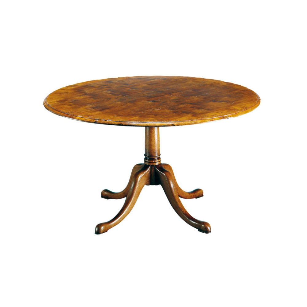 English Oak Round Wooden Table