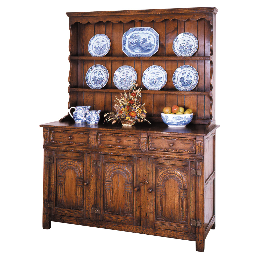 English Oak Dresser & Rack