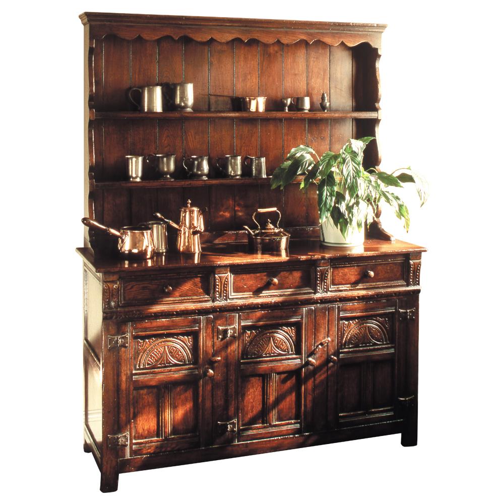 English Oak Dresser & Rack
