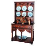 English Oak Miniature Dresser & Rack
