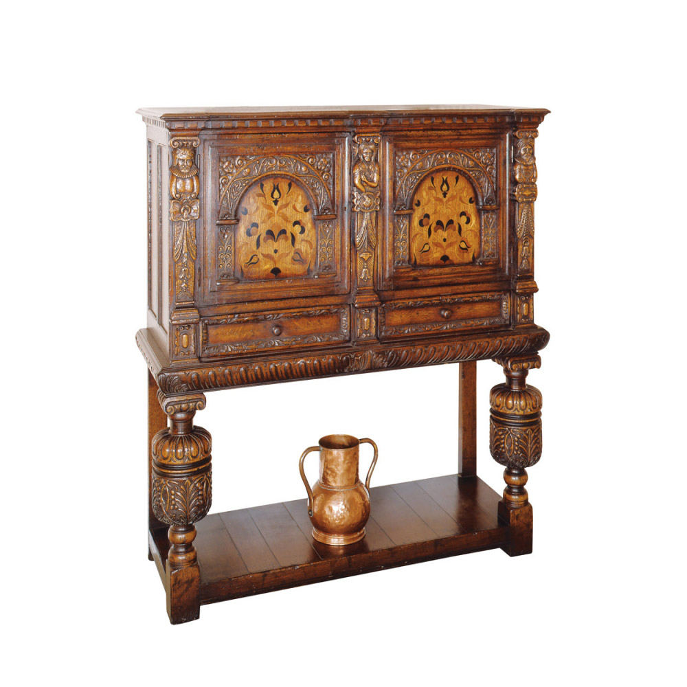 English Oak Jacobean Wine Cabinet