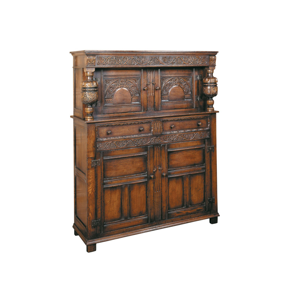 English Oak Elizabethan Court Cupboard