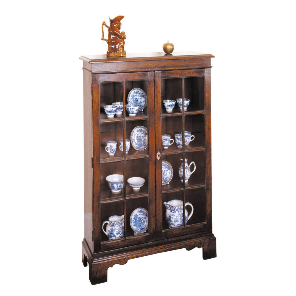 English Oak Display Cabinet