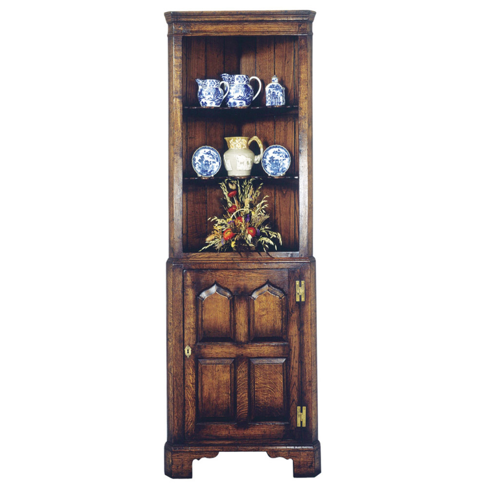 English Oak Corner Cupboard