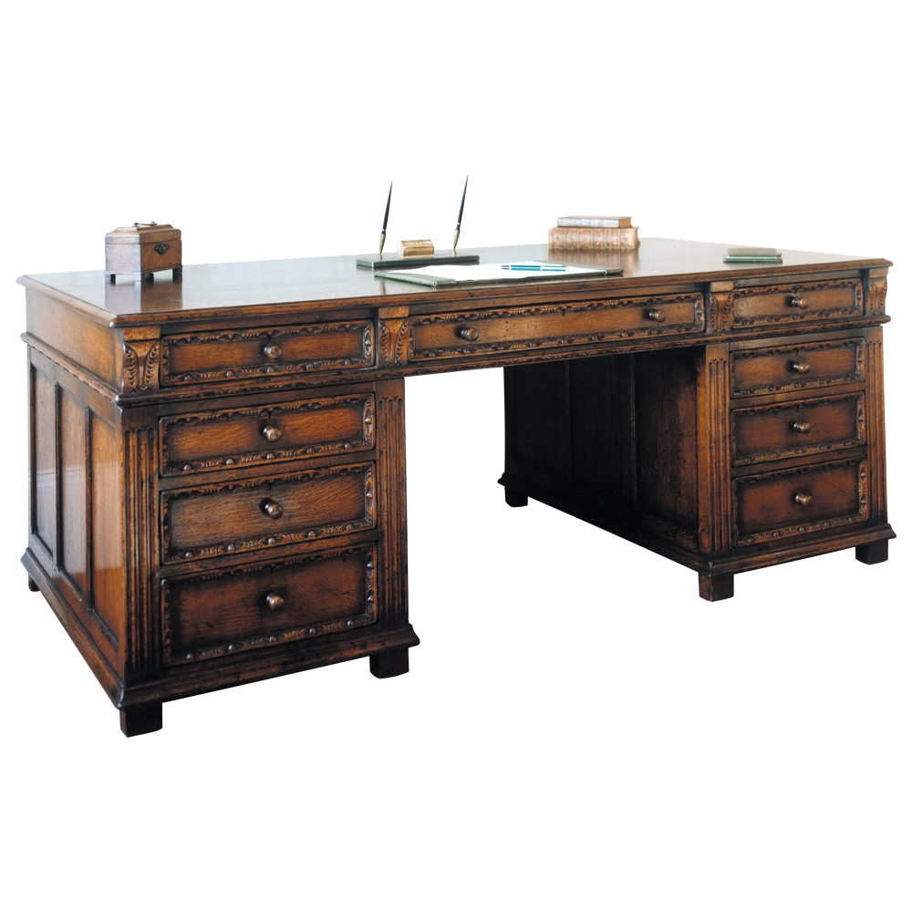 English Oak Kneehole Desk