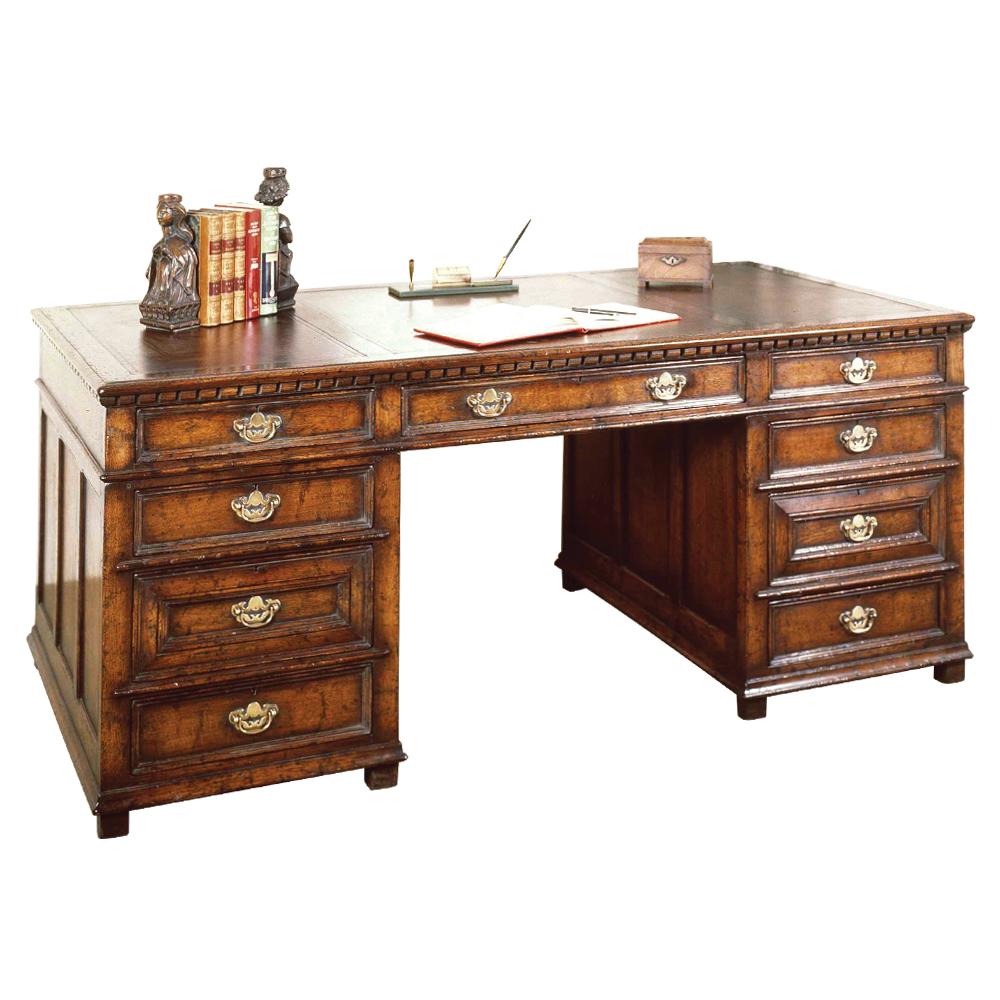 English Oak Kneehole Desk