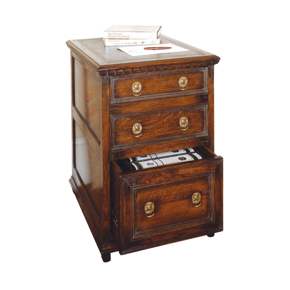 English Oak Filing Cabinet