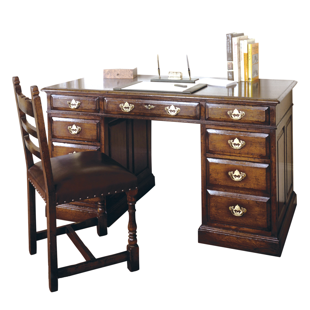 English Oak Knee Hole Desk