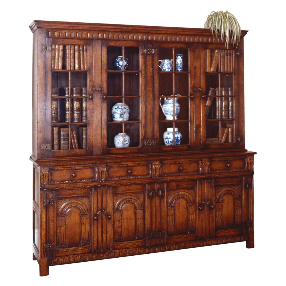 English Oak Cabinet / Bookcase