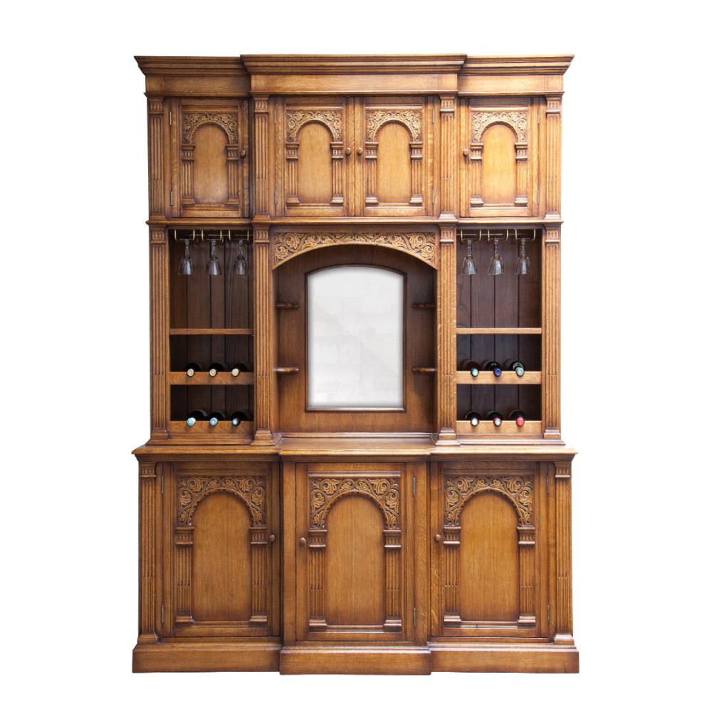 English Oak Drinks Cabinet