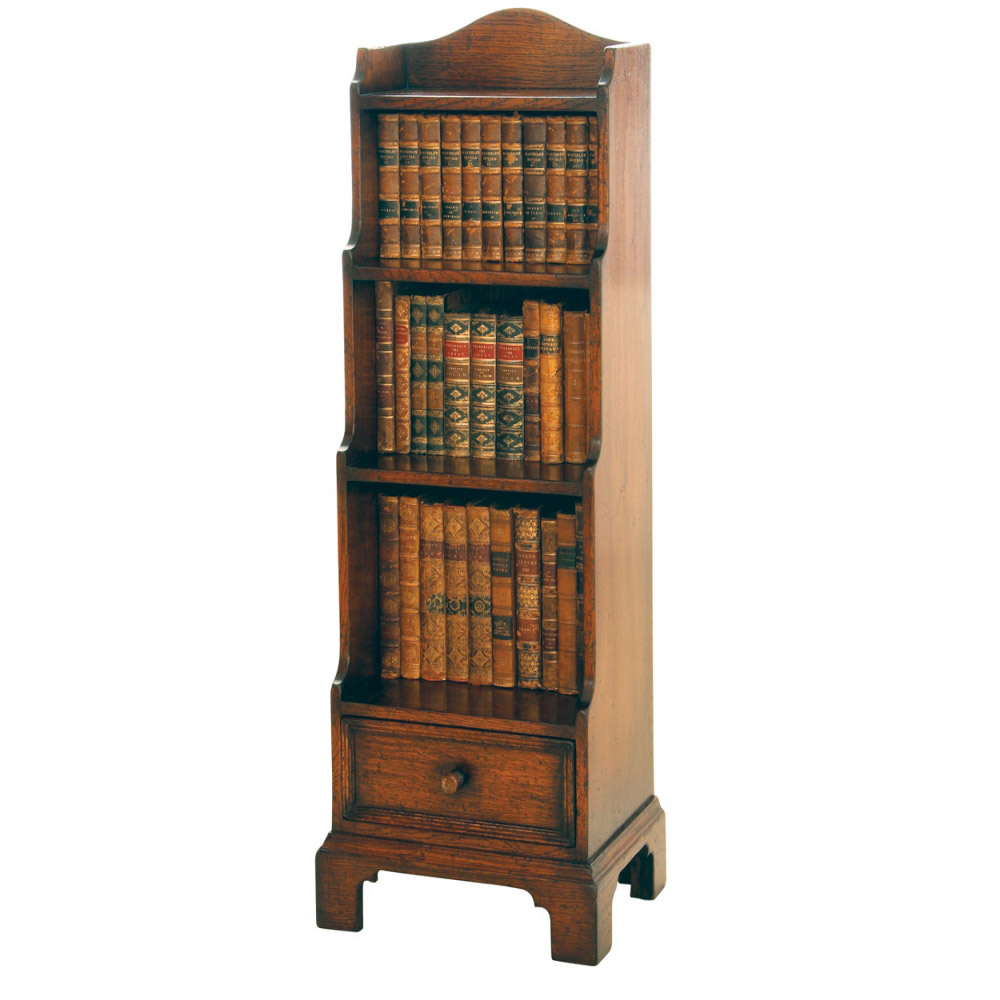 English Oak Miniature Waterfall Bookcase