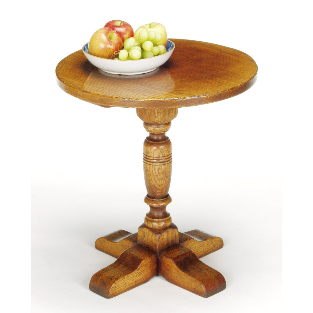 English Oak Pillar Table