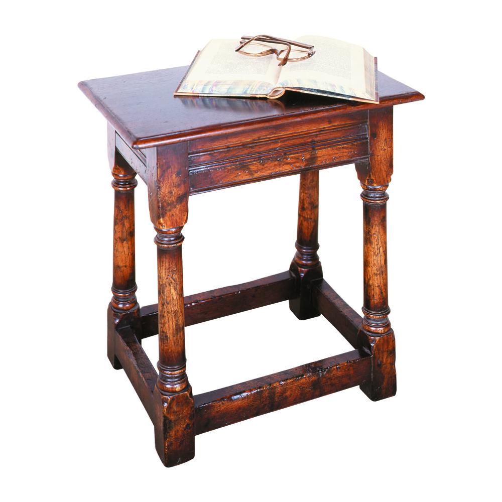 English Oak Coffin Stool