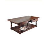 Oak Coffee Table with Two Drawers