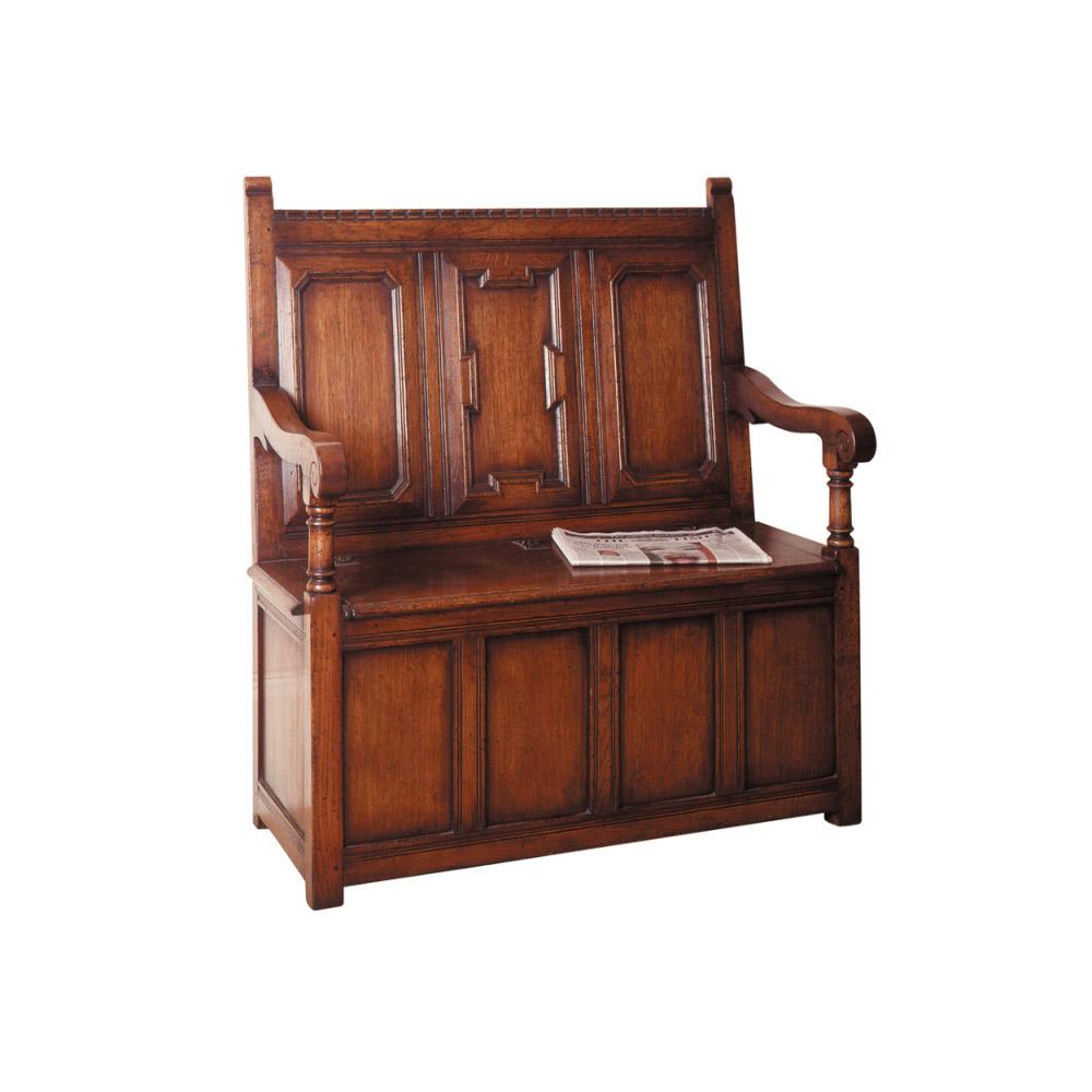 English Oak Box Settle