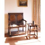 English Oak Tavern Seat With Potboard