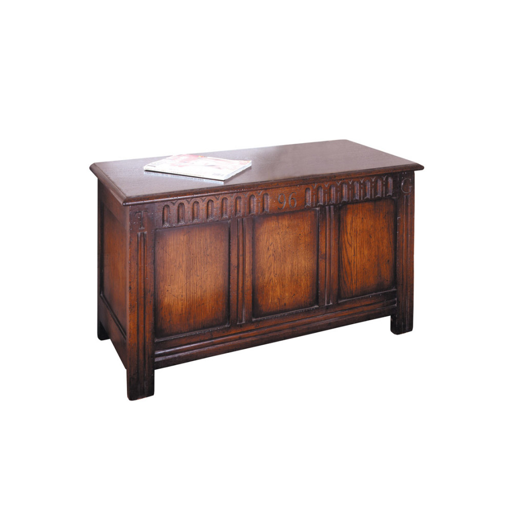 Oak Marriage Coffer with Date and Initials