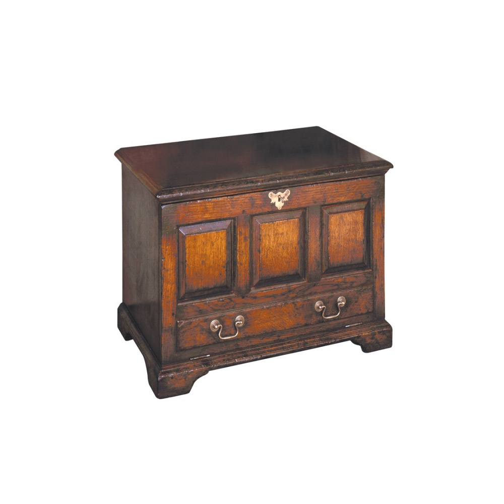 English Oak Miniature Dower Chest with Fall-Front