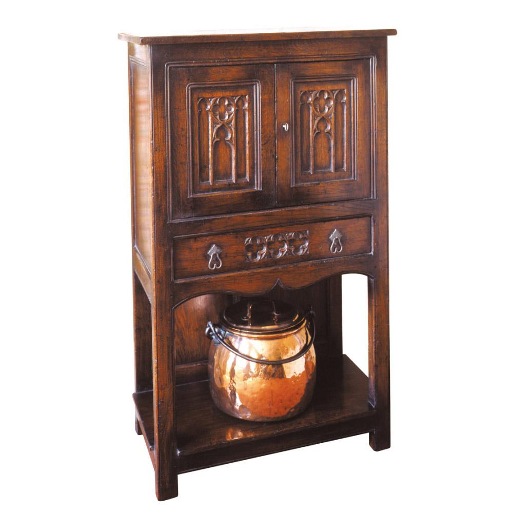 English Oak Wine Cupboard