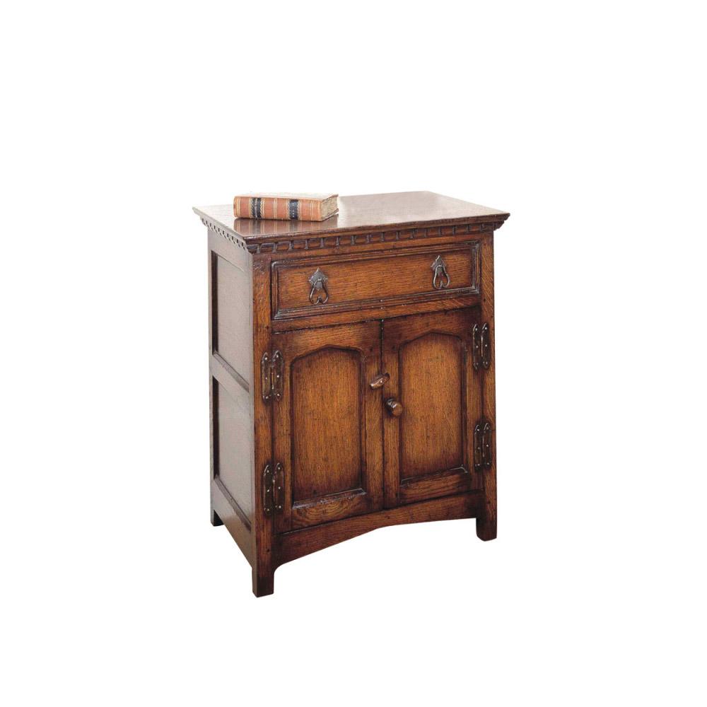 English Oak Bedside Cabinet