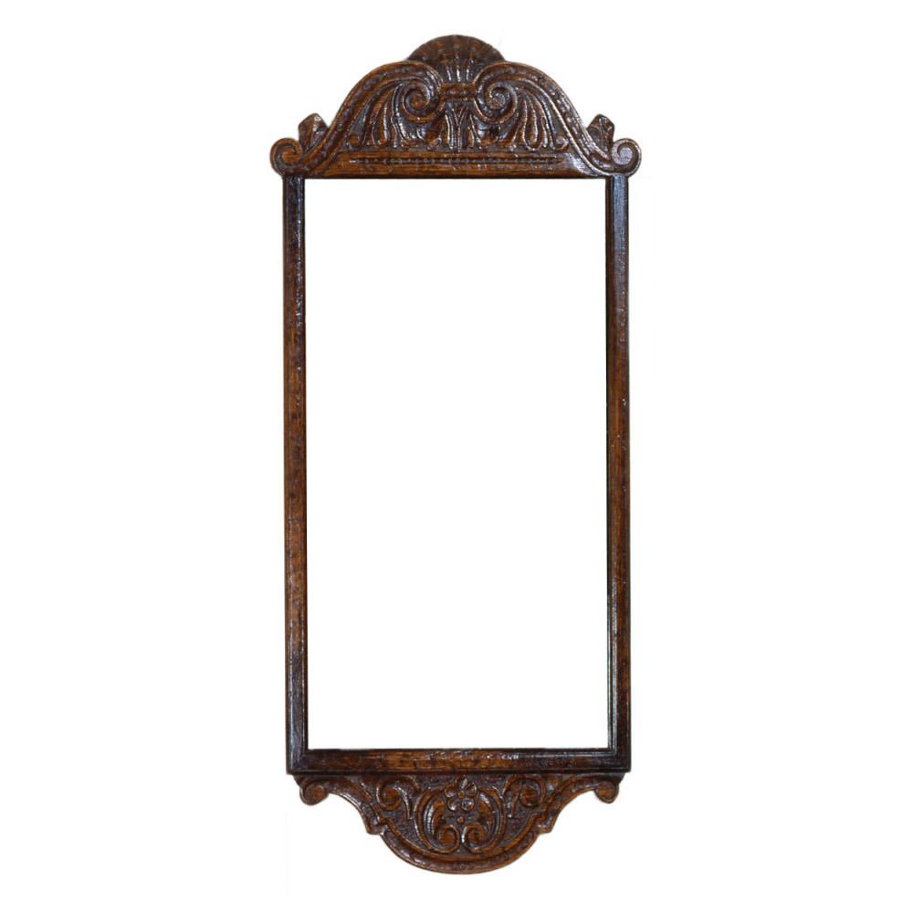 English Oak Carved Pier Mirror