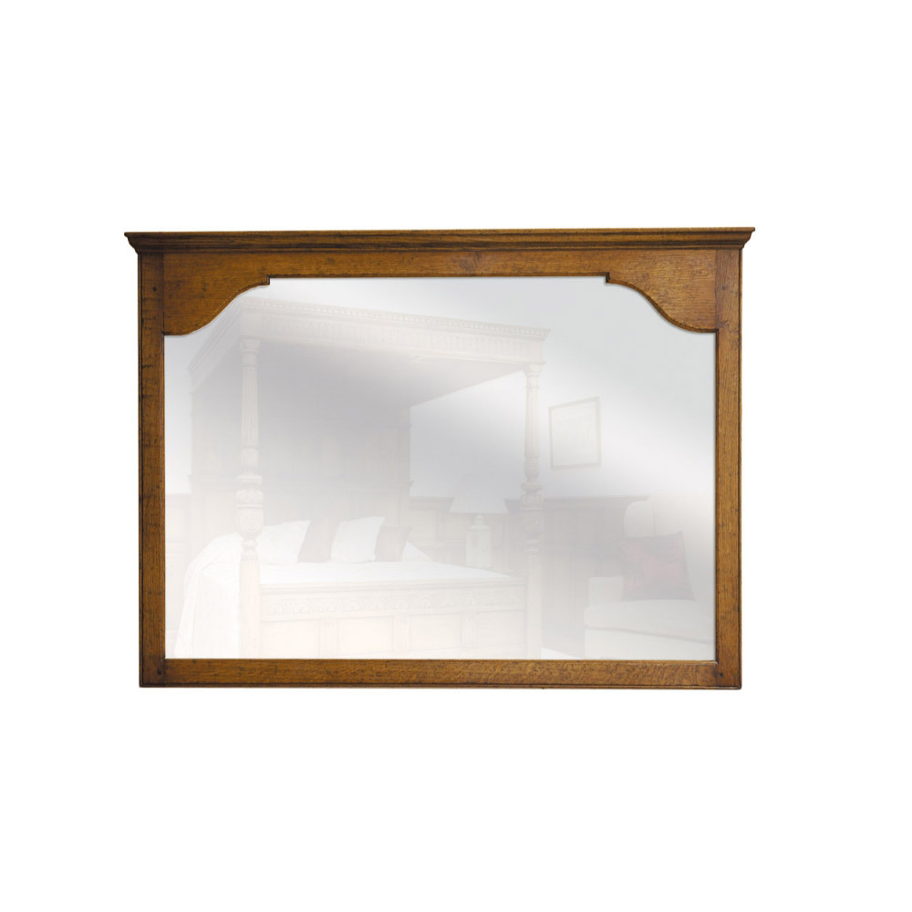 English Oak Landscape Mirror