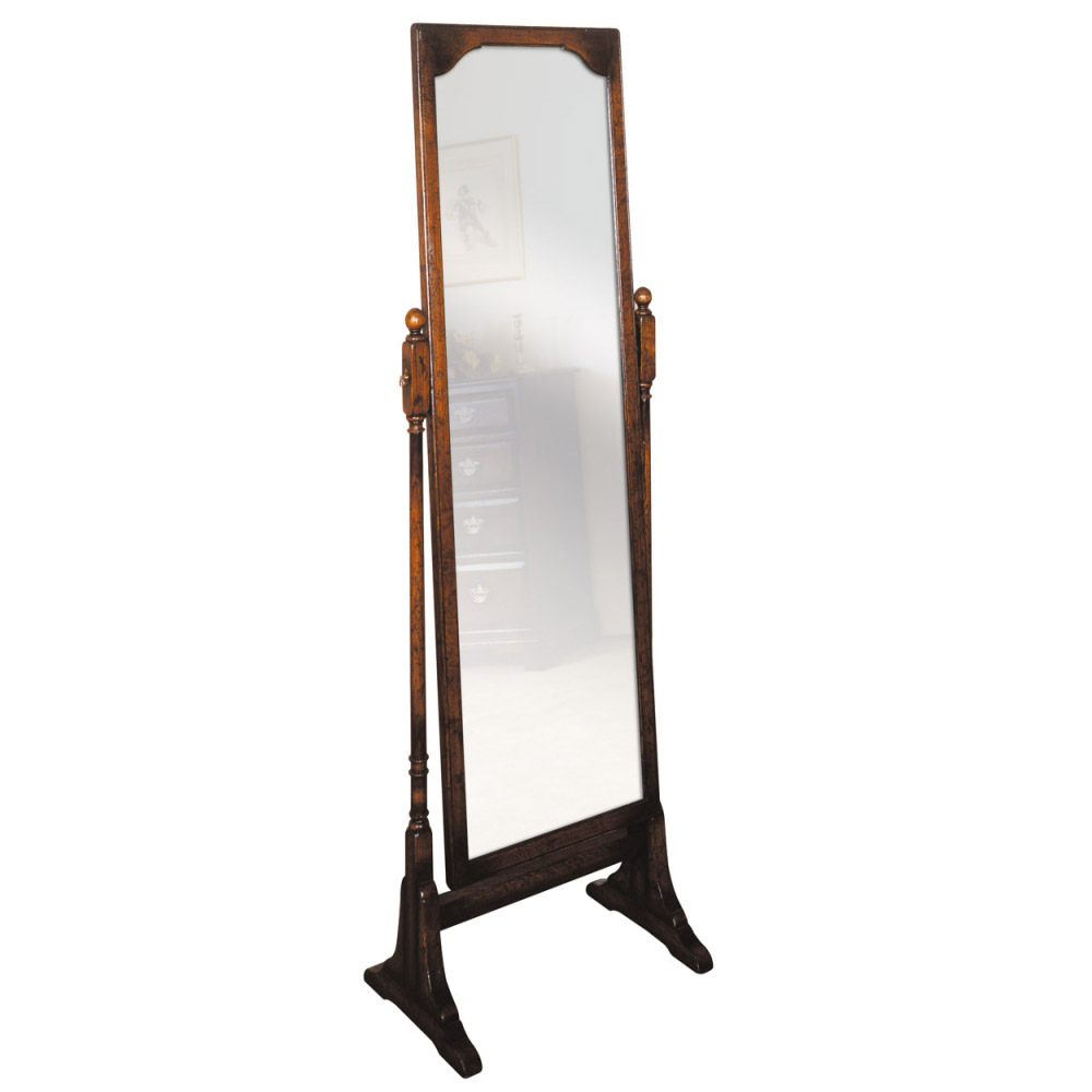 English Oak Cheval Mirror