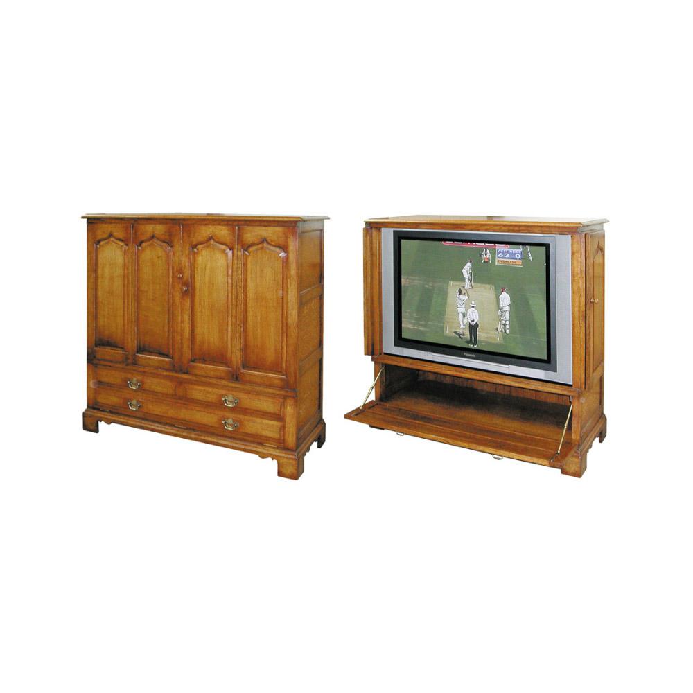 English Oak Videovision TV LCD Plasma Cabinet