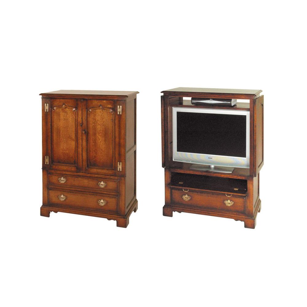 English Oak Widescreen TV & DVD Cabinet