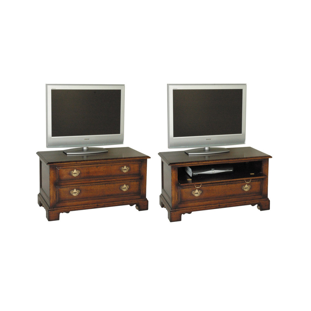 English Oak Widescreen Television Chest