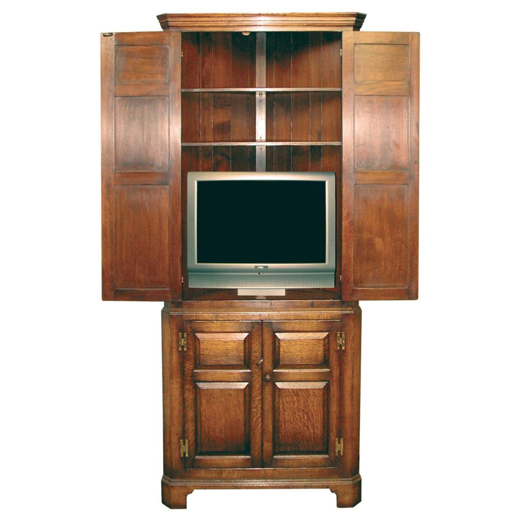 English Oak Corner Television Cabinet