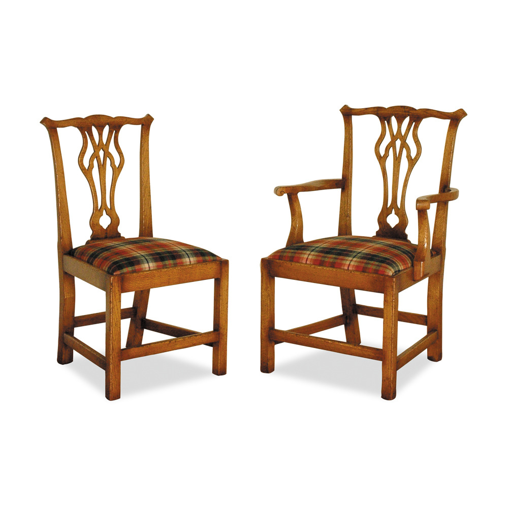 English Oak Country Chippendale Chair