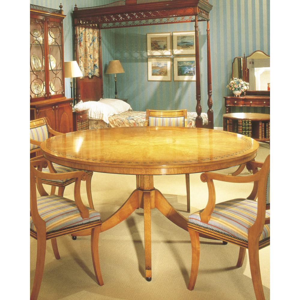 Karelian Birch Circular Dining Table