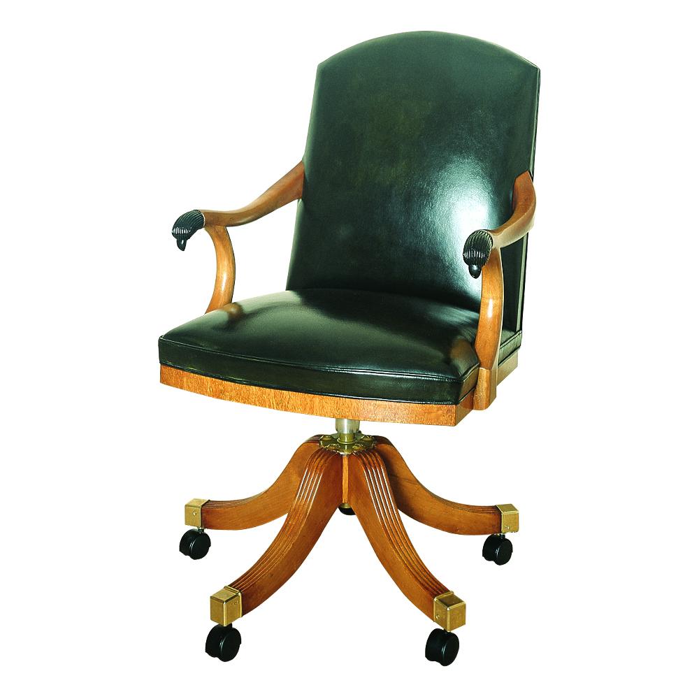 Karelian birch Directors Swivel Chair with Falcon Terminals