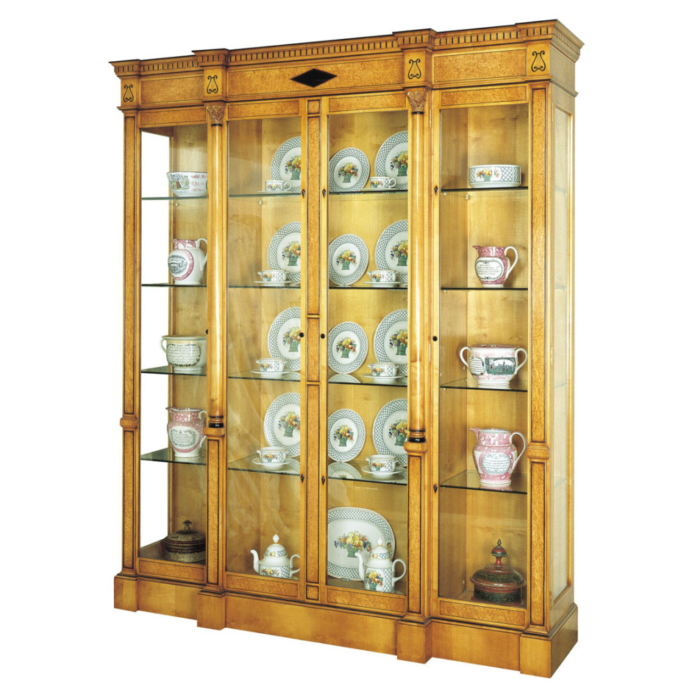 Karelian Birch Display Cabinet