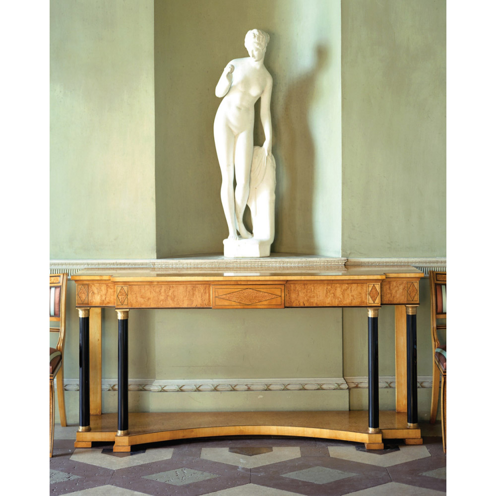 Karelian Birch Console Table