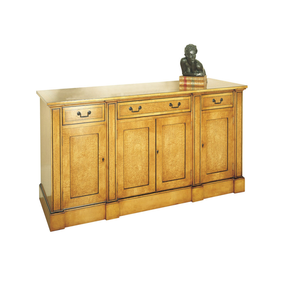 Karelian Birch Credenza with Marquetry