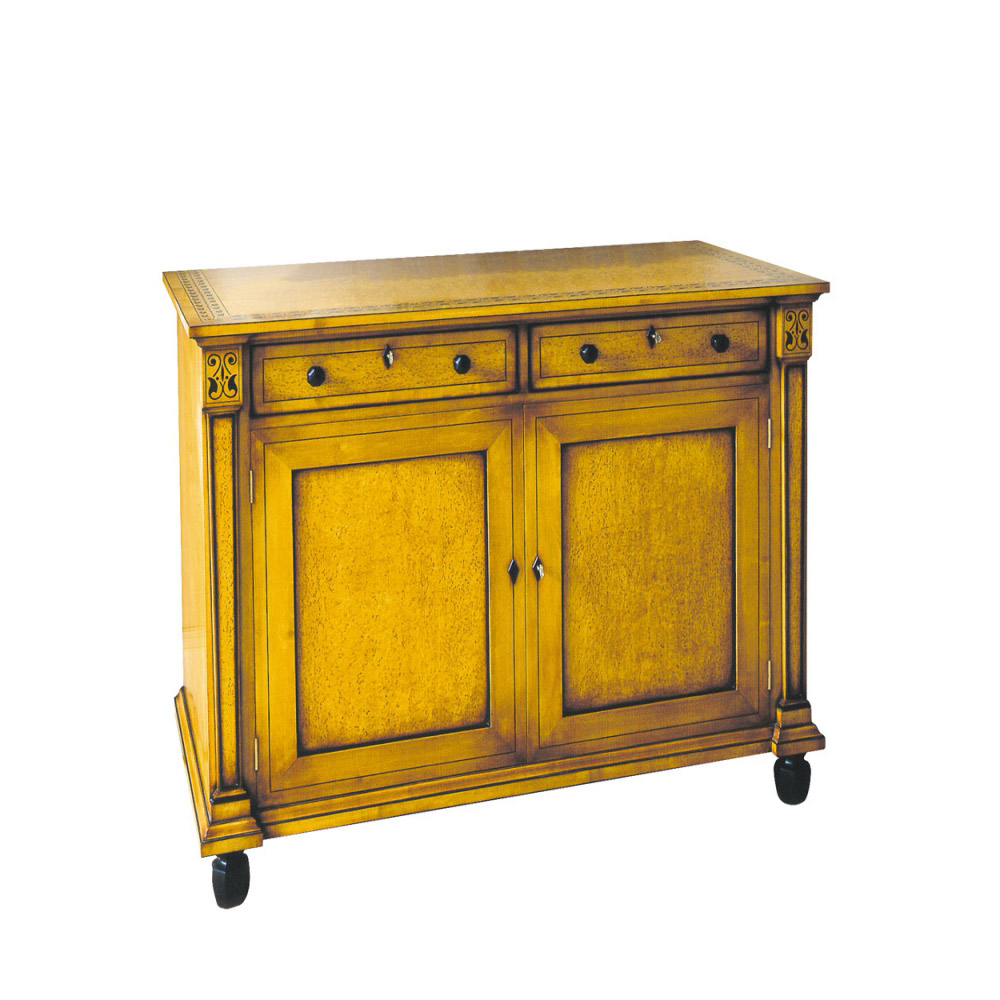 Karelian Birch Commode with Marquetry